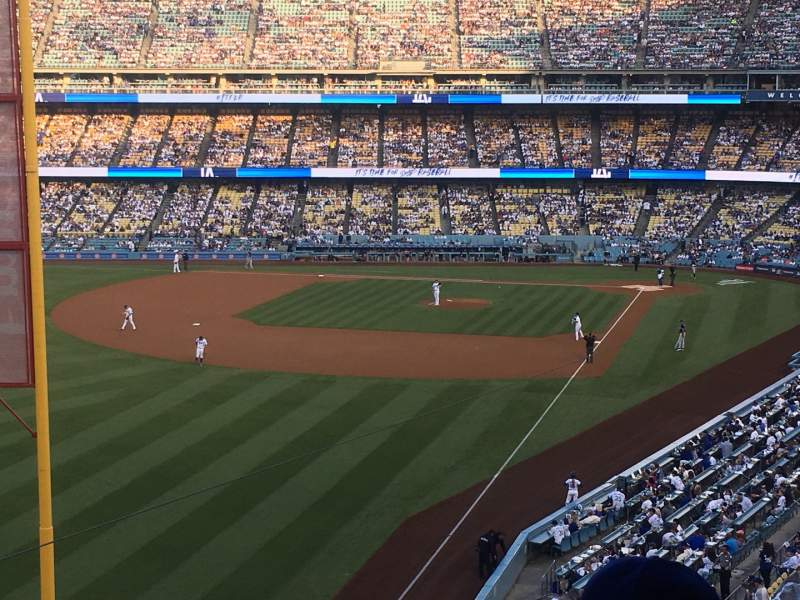 Seating view for Dodger Stadium Section 255 Club Row B Seat 3