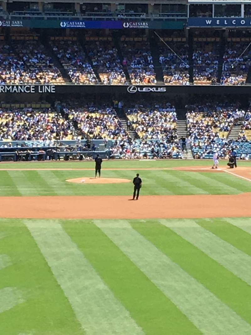 Seating view for Dodger Stadium Section 303PL Row X Seat 1