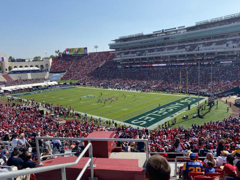 Seating view for Los Angeles Memorial Coliseum Section 217 Row 12 Seat 40