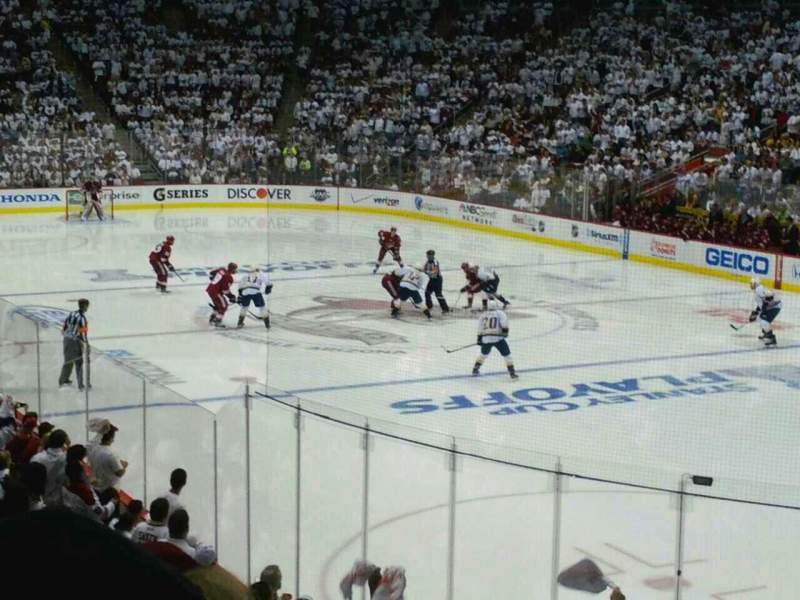 Seating view for Gila River Arena Section 108 Row 16 Seat 3