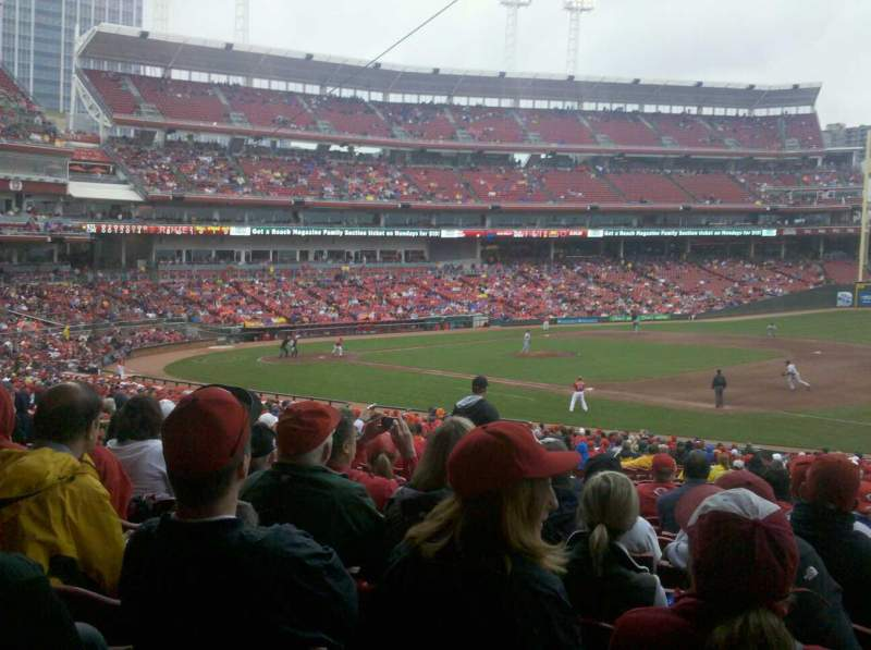 Seating view for Great American Ball Park Section 133 Row II  Seat 7
