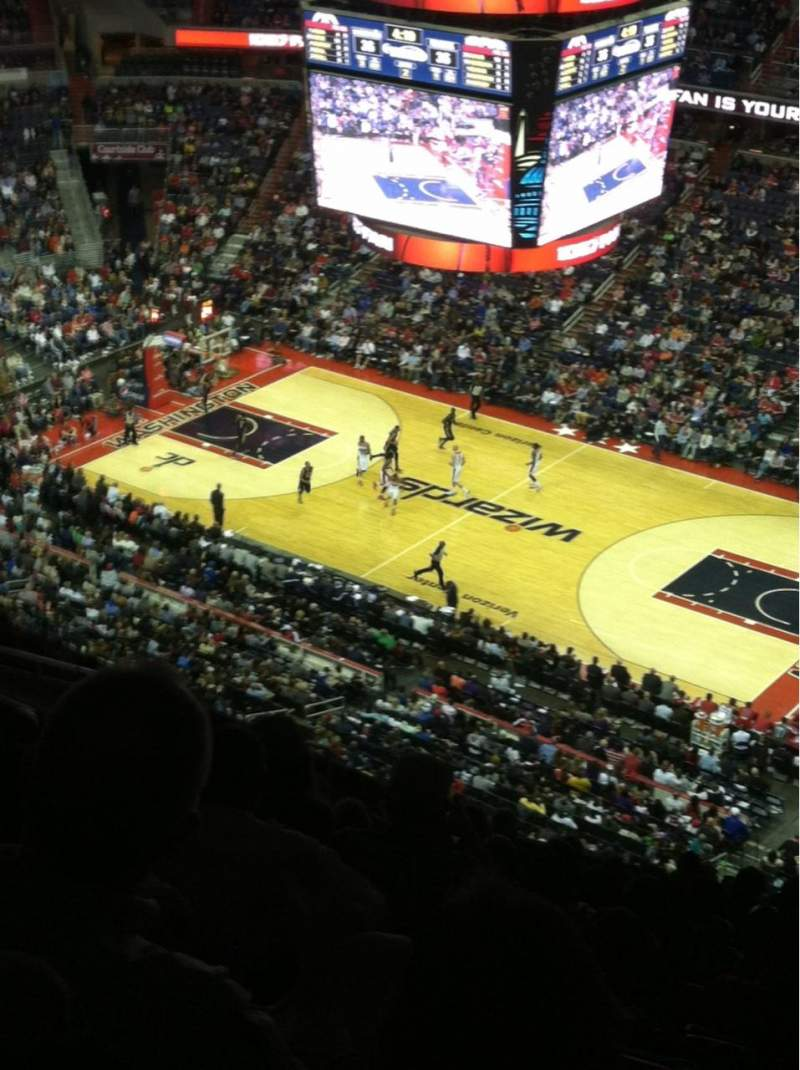 Seating view for Verizon Center Section 403 Row Q Seat 14