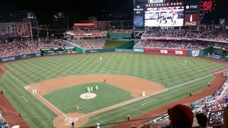 Seating view for Nationals Park Section 315 Row F Seat 6