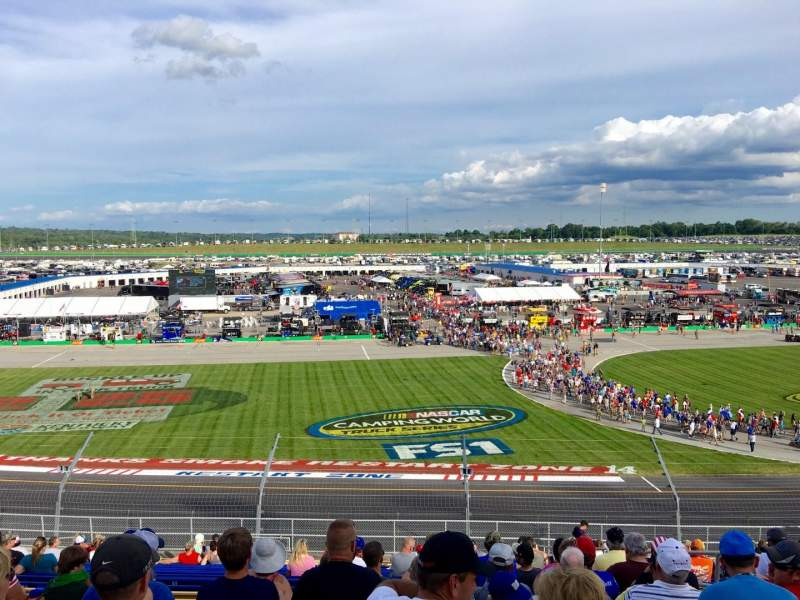 Seating view for Kentucky Speedway Section Grandstand 4J Row 22 Seat 5