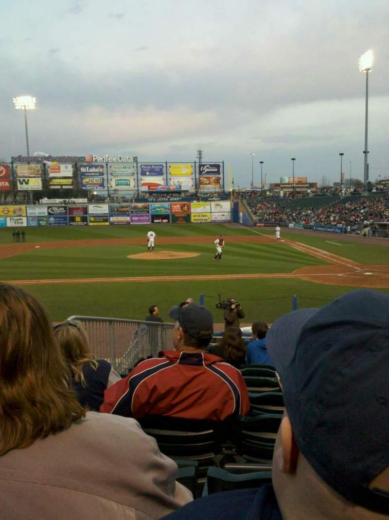 Seating view for Coca-Cola Park Section 116 Row R Seat 9