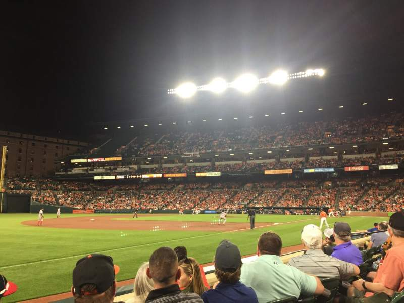 Seating view for Oriole Park at Camden Yards Section 62 Row 4 Seat 13