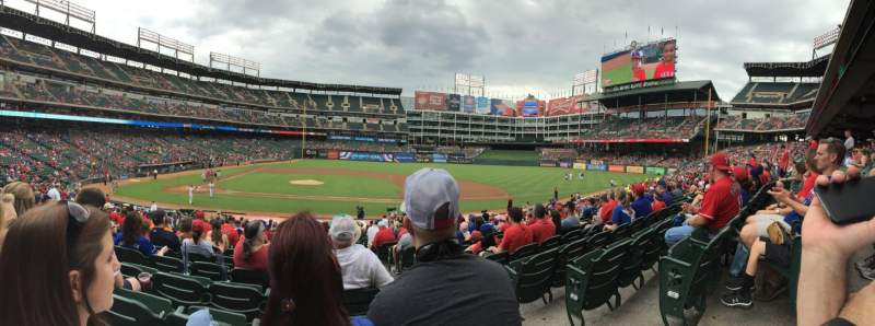 Seating view for Globe Life Park in Arlington Section 32 Row 23 Seat 17