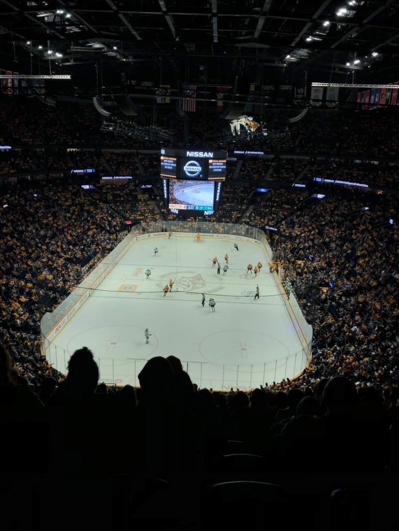 Seating view for Bridgestone Arena Section 318 Row SRO