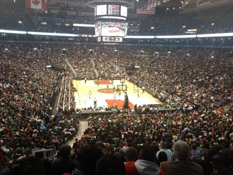 Seating view for Air Canada Centre Section 103 Row 30 Seat 19