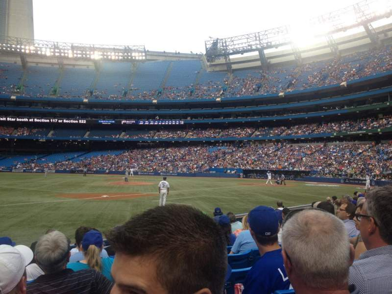 Seating view for Rogers Centre Section 129 Row 8 Seat 8