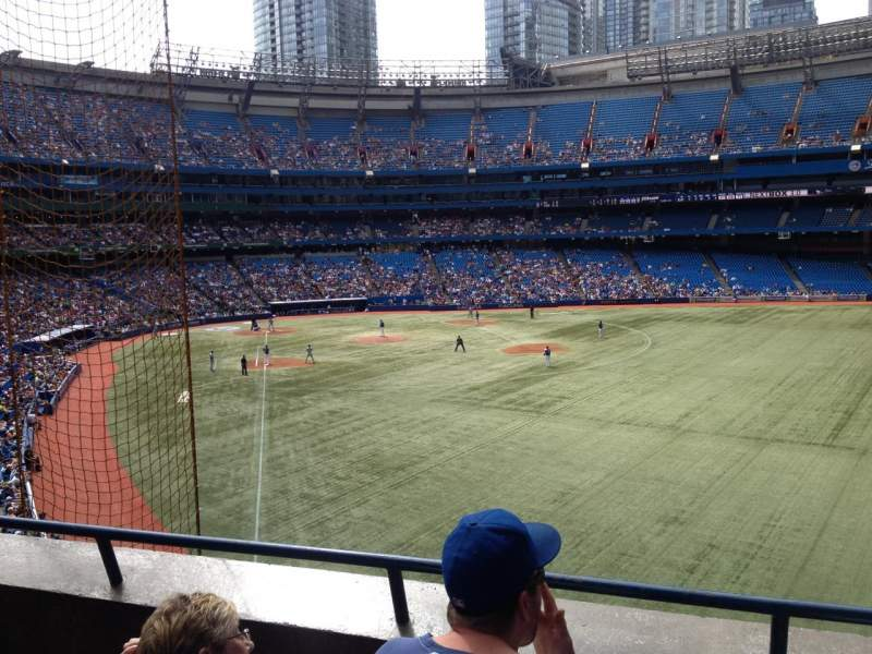 Seating view for Rogers Centre Section 209 Row 3 Seat 105