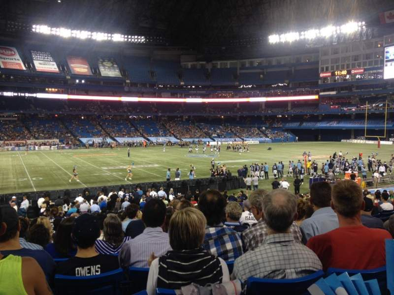 Seating view for Rogers Centre Section 114R Row 29 Seat 10