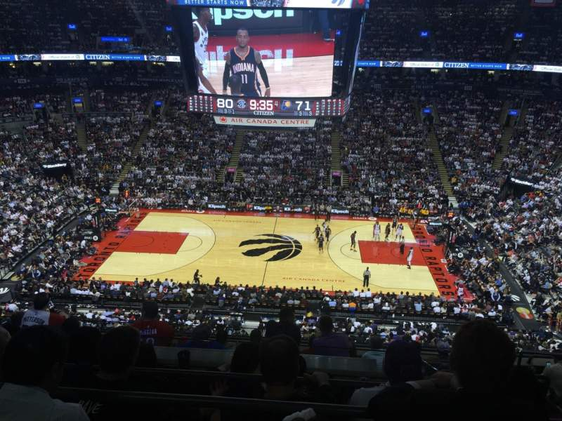 Seating view for Air Canada Centre Section 309 Row 9 Seat 5