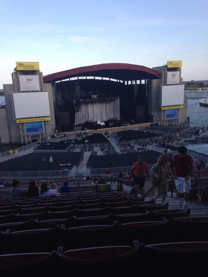 Seating view for Jones Beach Theater Section 12R Row RR Seat 4