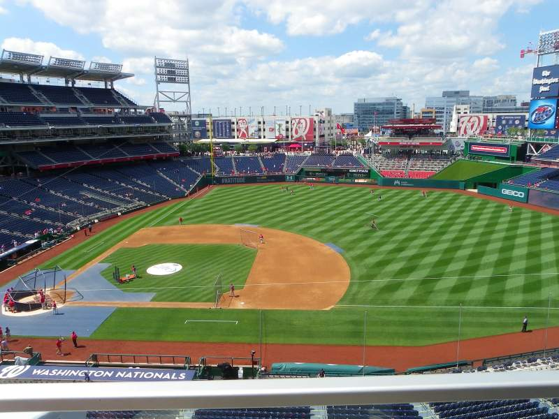 Seating view for Nationals Park Section 320 Row A Seat 17