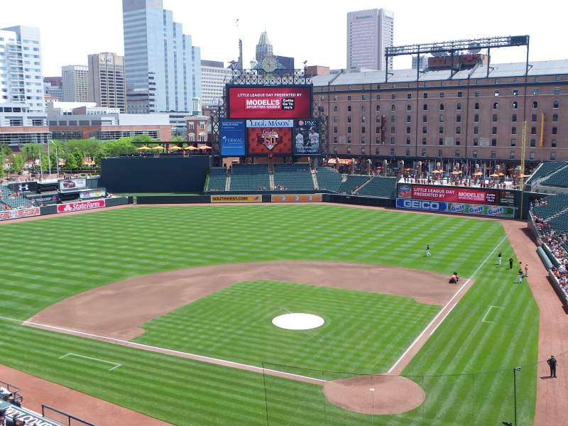 Seating view for Oriole Park at Camden Yards Section 342 Row 1 Seat 11
