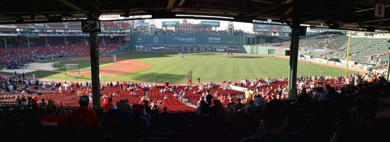 Seating view for Fenway Park Section Grandstand 12 Row 16 Seat 6