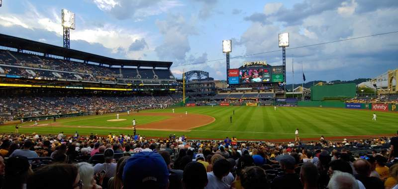 Seating view for PNC Park Section 107 Row T Seat 15