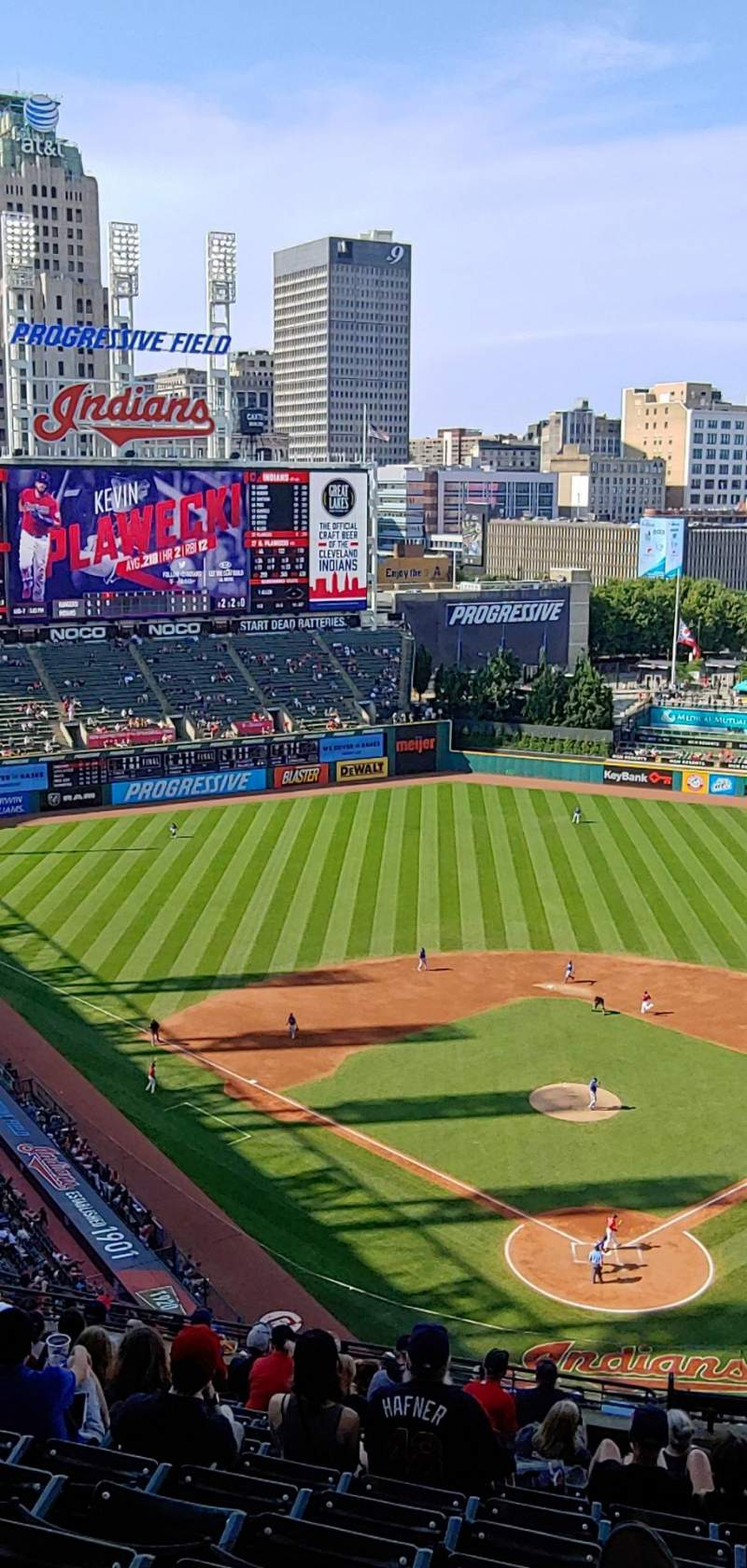 Seating view for Progressive Field Section 555 Row V Seat 5