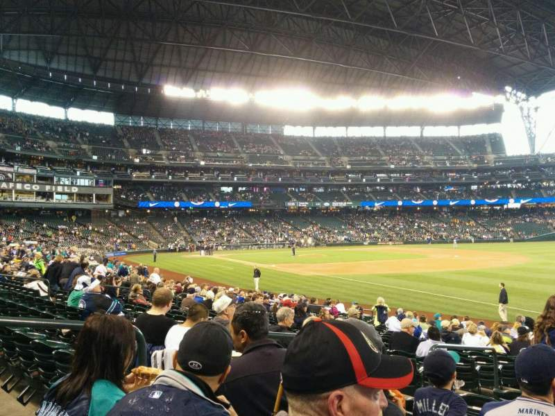 Seating view for Safeco Field Section 115 Row 21 Seat 11