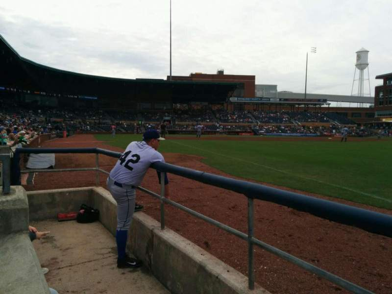 Seating view for Durham Bulls Athletic Park Section 120 Row a Seat 22