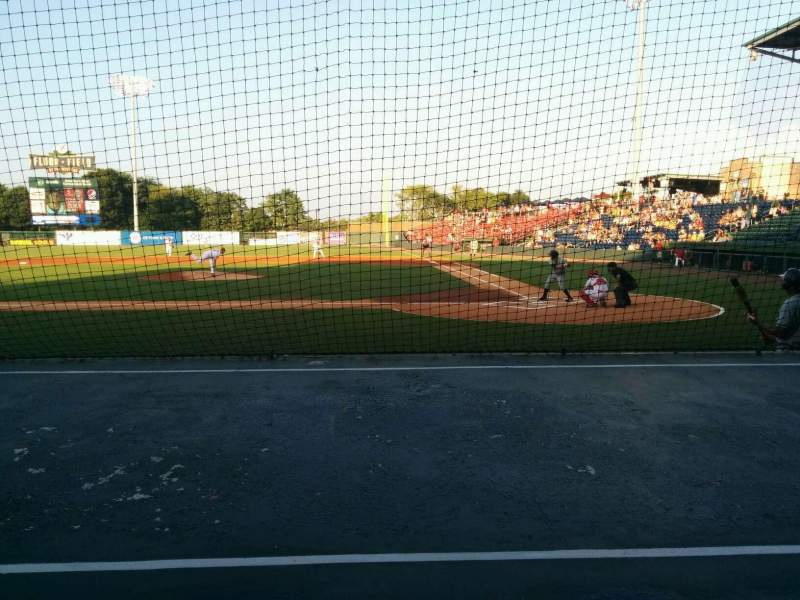Seating view for Fluor Field Section 105 Row e Seat 3
