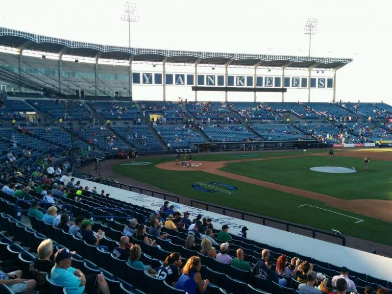 Seating view for George M. Steinbrenner Field Section 105 Row pp Seat 1