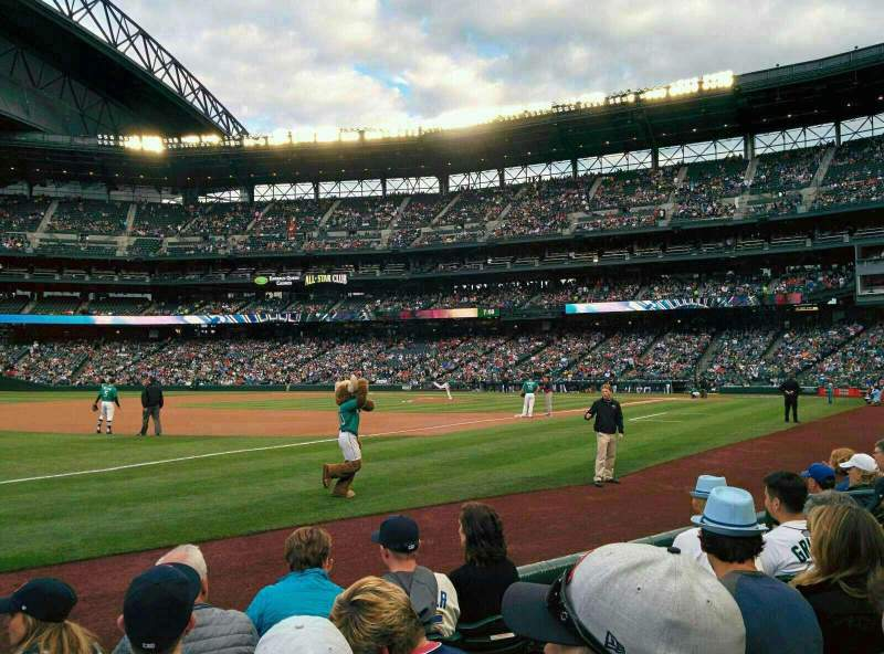 Seating view for T-Mobile Park Section 143 Row 5 Seat 11