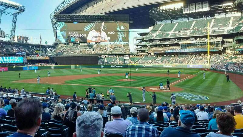 Seating view for Safeco Field Section 133 Row 24 Seat 8