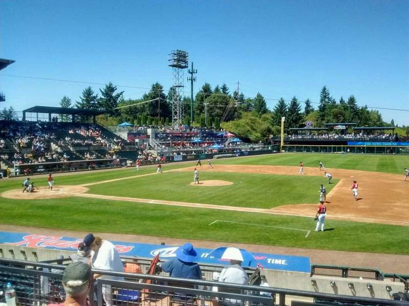 Seating view for Cheney Stadium Section O Row 4 Seat 7