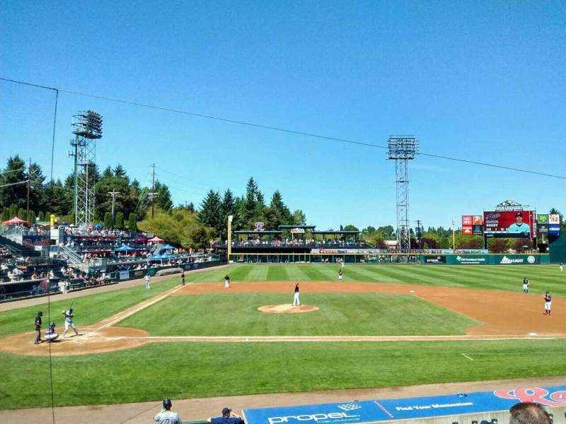 Seating view for Cheney Stadium Section m Row 4 Seat 10
