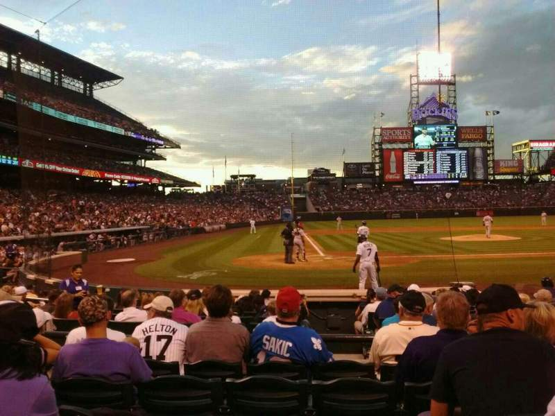 Seating view for Coors Field Section 126 Row 8 Seat 6