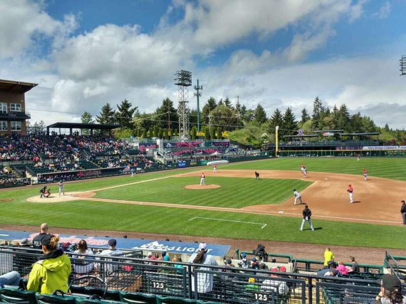 Seating view for Cheney Stadium Section O Row 6 Seat 25