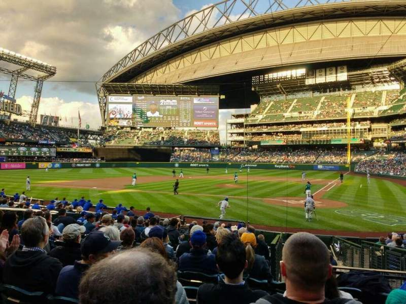 Seating view for Safeco Field Section 134 Row 19 Seat 4