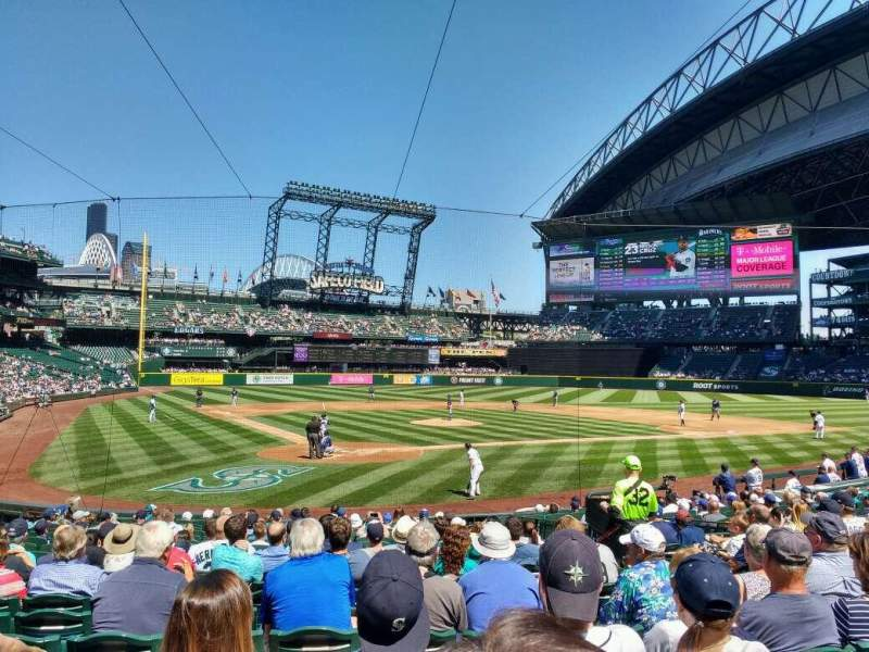 Seating view for Safeco Field Section 127 Row 19 Seat 8