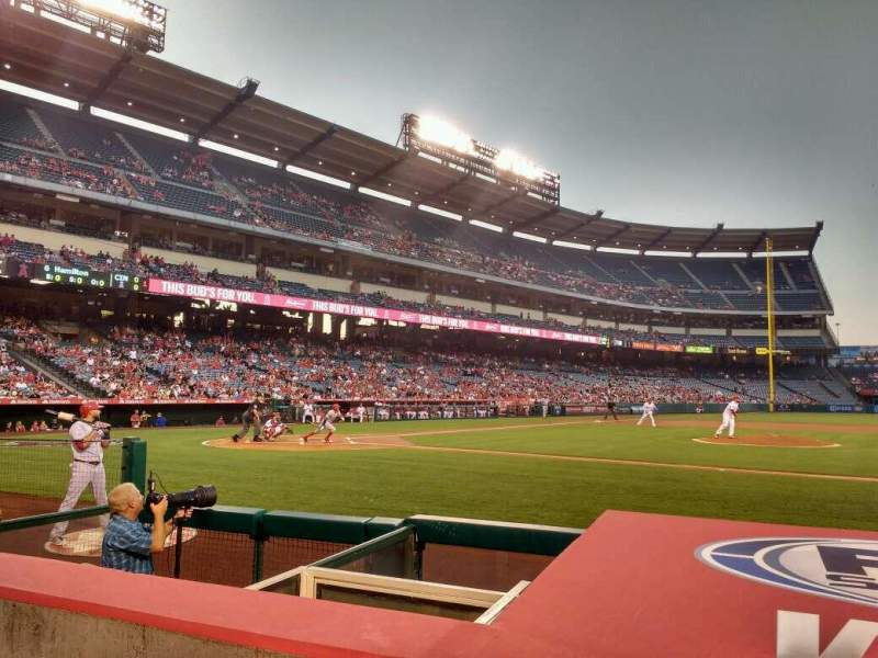 Seating view for Angel Stadium Section 124 Row d Seat 11