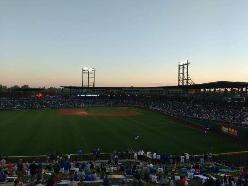 Seating view for Sloan Park Section deck