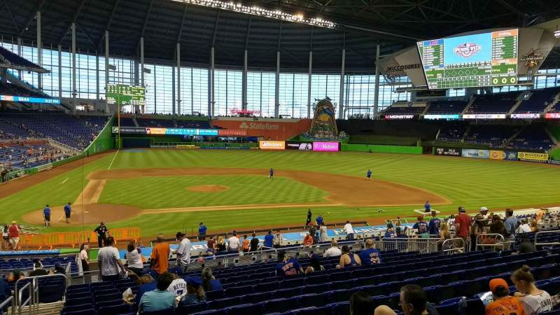 Seating view for Marlins Park Section 10 Row 15 Seat 20