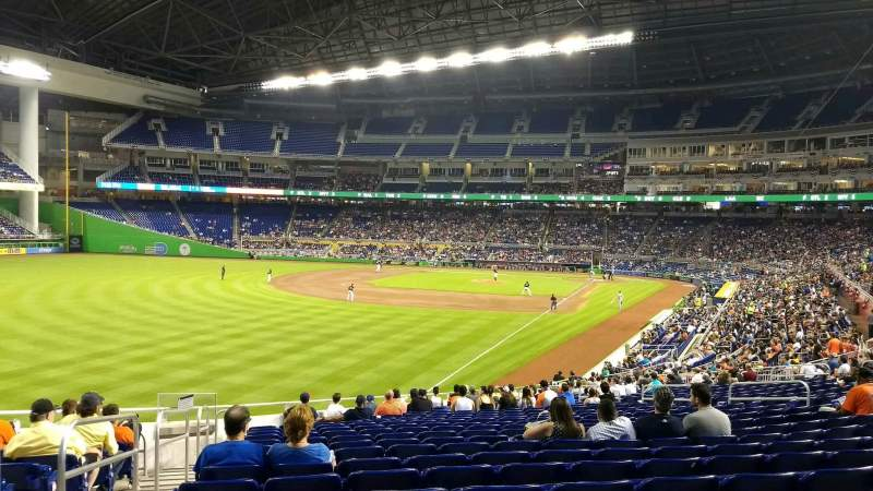 Seating view for Marlins Park Section 27 Row 19 Seat 20