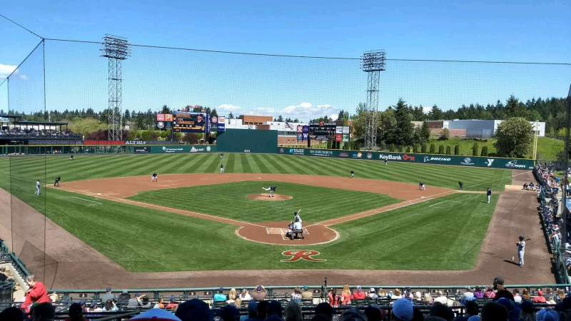 Seating view for Cheney Stadium Section H Row 10 Seat 1
