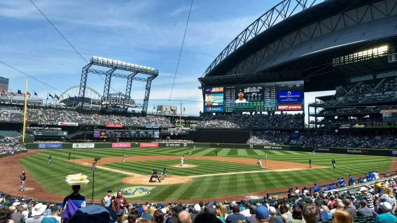 Seating view for T-Mobile Park Section 128 Row 26 Seat 12