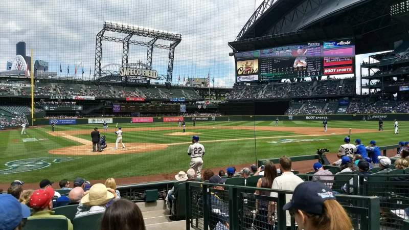 Seating view for T-Mobile Park Section 127 Row 10 Seat 1