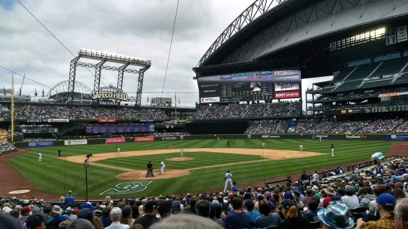 Seating view for Safeco Field Section 128 Row 26 Seat 11