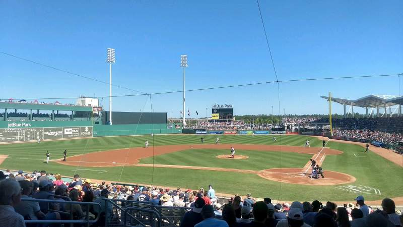 Seating view for JetBlue Park Section 204 Row 9 Seat 17