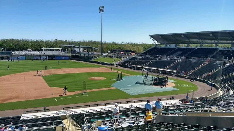 Hammond Stadium, section: 216, row: 12, seat: 2