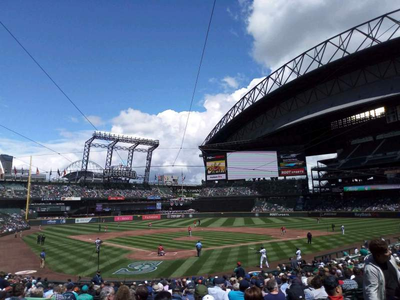 Seating view for T-Mobile Park Section 128 Row 26 Seat 10