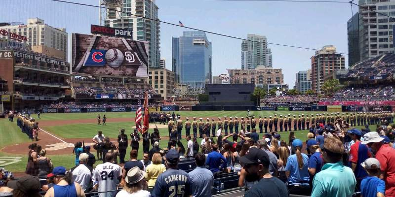 Seating view for PETCO Park Section 103 Row 14 Seat 7
