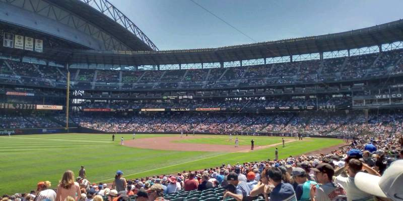 Seating view for T-Mobile Park Section 147 Row 26 Seat 4