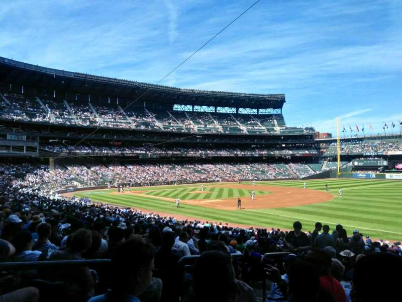 Seating view for T-Mobile Park Section 216 Row 34 Seat 13
