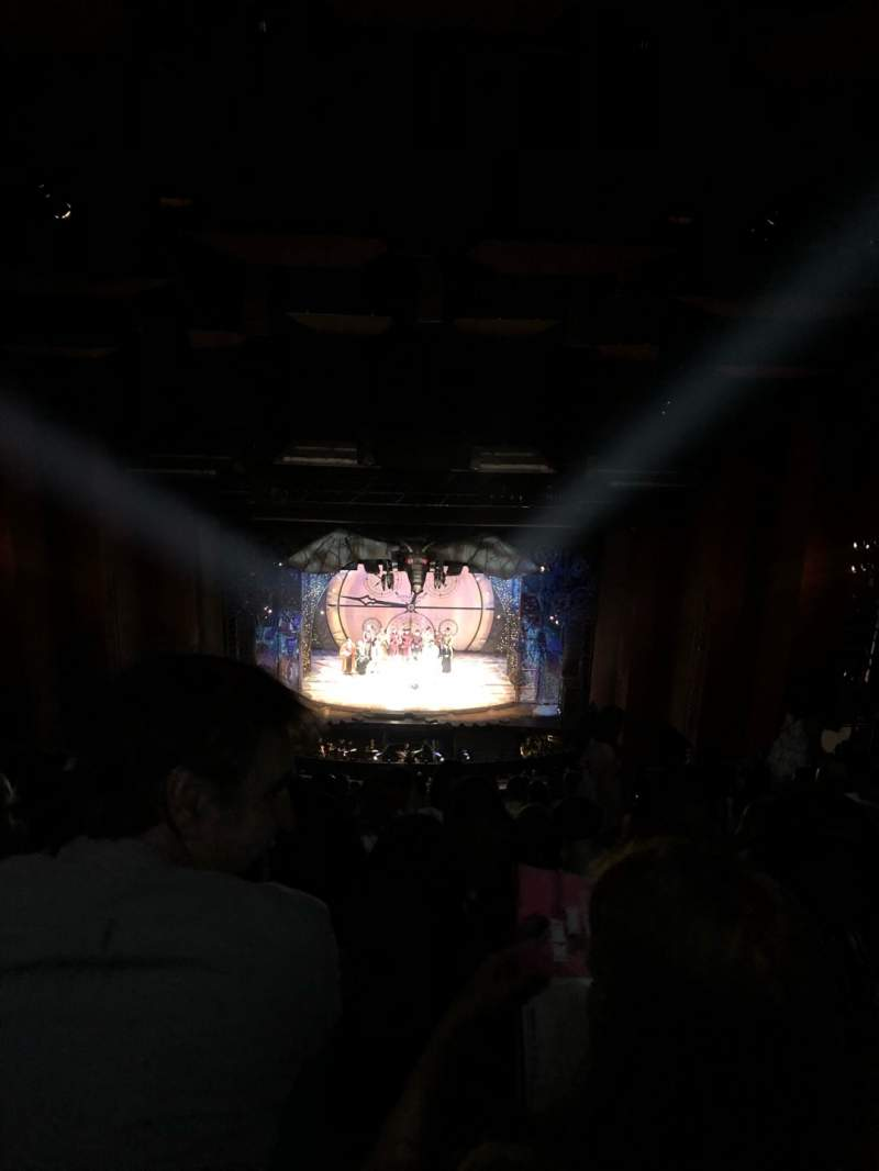 Seating view for San Diego Civic Theatre Section Balcony l Row BB Seat 3